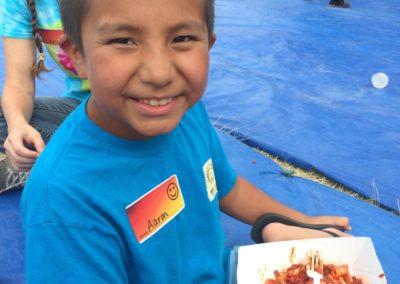 Aaron. Eine warme Mahlzeit ist längst nicht für jedes Kind eine Normalität.